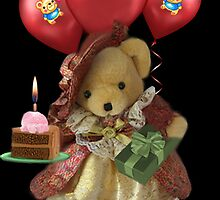 ㋡ HAPPY BIRTHDAY TEDDY BEAR BEARING GIFTS CARD/PICTURE  ㋡ by ╰⊰✿ℒᵒᶹᵉ Bonita✿⊱╮ Lalonde✿⊱╮