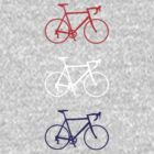 Racing Bikes (red, white, blue) by hellomrdave