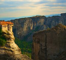 Light at the Varlaam Monastery, Meteora by Michael Hallam