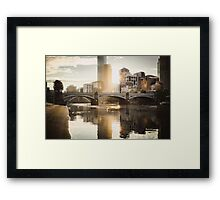 Rowers on the Yarra River at Sunset Framed Print