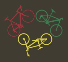Bicycle triangle (red, green, yellow) by hellomrdave