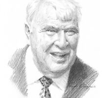 John Madden drawing by Mike Theuer