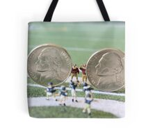 I know the coach said, 'nickel defense' but I'm pretty sure this isn't what he meant!! Tote Bag