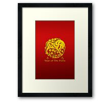 Year of The Horse Papercut Framed Print