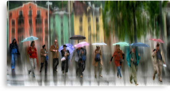 Innsbruck Street Corner by Dennis Granzow
