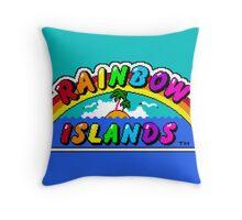 Rainbow Islands Throw Pillow