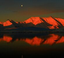 Antarctic Sunset by Wanda Craswell