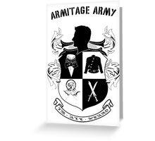 Armitage Army CoA -txt- Greeting Card
