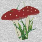 Cute Mini Red Mushrooms  by bardenne