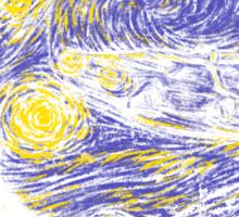 Starry Delorean Sticker