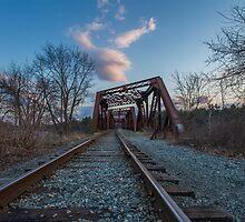 Railroad Bridge - Manchester  by Richard Thelen