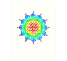 Flower of life - Lotus, healing & energizing Art Print