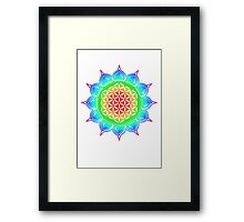 Flower of life - Lotus, healing & energizing Framed Print