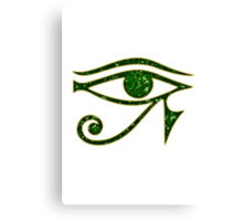 EYE of Horus/ Ra, reverse moon eye of Thoth/ Canvas Print