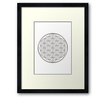 Flower of life - Silver, healing & energizing Framed Print