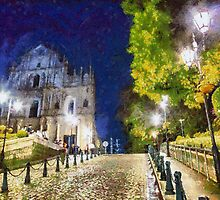 Ruins of St. Paul's during at night by Patricia  Soon