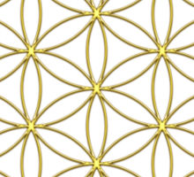Flower of life - Gold, healing & energizing Sticker