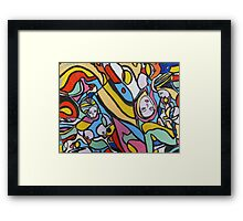 Painting 'Spin Art 3 Topless' Framed Print