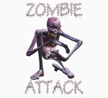 Zombie Attack, tee shirt by LoneAngel