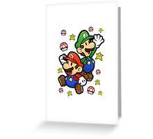 Yeah Mario Greeting Card