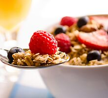 Granola and Fruit Breakfast by Photopa