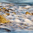 Golden Rocks and Sea by Heidi Stewart