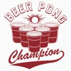 Beer Pong Champion Funny Geeks by jekonu