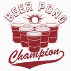 Beer Pong Champion Funny Geeks by jekonu
