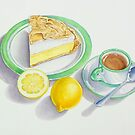 Lemon Meringue Pie with Espresso by joeyartist