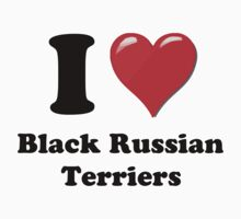 I Heart Black Russian Terriers by HighDesign