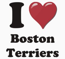 I Heart Boston Terriers by HighDesign