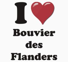 I Heart Bouvier des Flanders by HighDesign