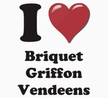 I Heart Briquet Griffon Vendeens by HighDesign