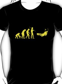 Evolution to Scuba Diver YELLOW T-Shirt