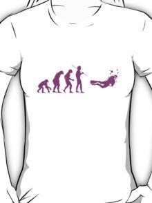 Evolution to Scuba Diver PINK T-Shirt