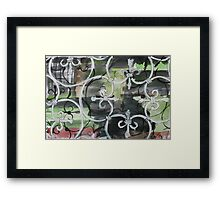 Victorian wrought-iron Framed Print