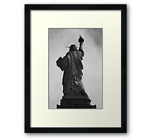 Behind the liberty Framed Print