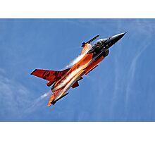 "RNethAF F-16AM Fighting Falcon J-015 ""Orange Lion"" Photographic Print"