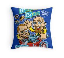 Breaking Bran Throw Pillow