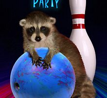 Bowling Party Raccoon by jkartlife