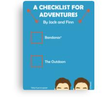 JACKSGAP Adventure Checklist Canvas Print