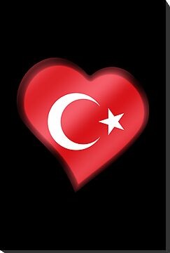 Turkish Flag - Turkey - Heart by graphix
