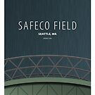 Minimalist Safeco Field - Seattle by pootpoot