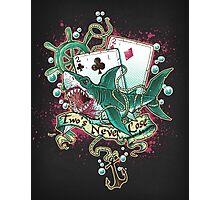 Poker Shark (black)  Photographic Print