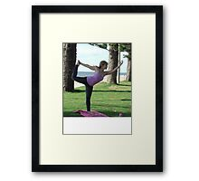 Dancer's pose on the beach at Redcliffe Framed Print