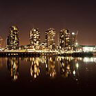 Docklands at Night by Danielle  Miner