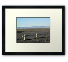 Fence in the Open Framed Print
