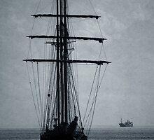 Tall Ship Becalmed by Wrayzo