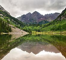 Maroon Lake - Maroon Bells-Snowmass Wilderness, Colorado by Jason Heritage