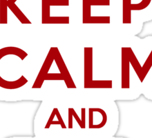 Keep Calm And Be A Martell (Color Version) Sticker